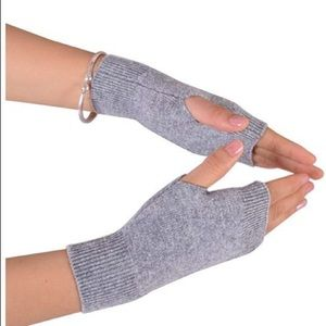 Two pack cashmere fingerless gloves